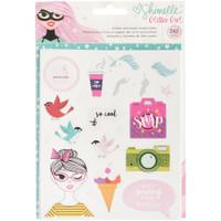American Crafts - Shimelle Glitter Girl Sticker/Washi Book