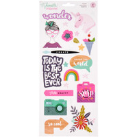 """American Crafts - Shimelle Glitter Girl Stickers 6"""" x 12"""""""