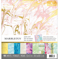 "Paper House - Double-Sided Paper Pad 12""X12"" - Marbleous"