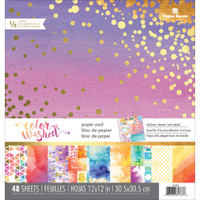 """Paper House - Double-Sided Paper Pad 12"""" x 12"""" - Color Washed"""