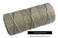 Baker's Twine 12 Ply - 100 Metre (110 Yards) Spool - Metallic Silver and White #BT12-28