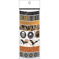 Martha Stewart Crafts Halloween Washi Tape 8 Assorted Rolls - Witching Hour - Orange