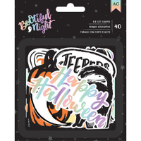 American Crafts - BOOtiful Night Foiled Ephemera Cardstock Die-Cuts