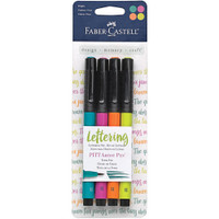 Faber Castell - Mix & Match PITT Artist Brush Pens - Set of 4 - Bright
