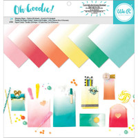 We R Memory Keepers - Glassine Paper Pack - 12 x 12 - Ombre