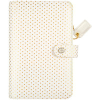 "Color Crush Faux Leather Personal Planner Kit 5.25"" X 8"" - Gold Polka Dots"