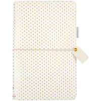 Color Crush - Travelers Journal - Gold Polka Dots
