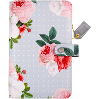 """Color Crush Faux Leather Personal Planner Kit 5.25"""" X 8"""" - Gray Floral"""