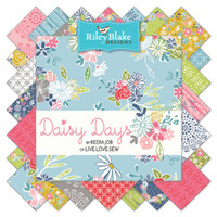 "Riley Blake Fabric - Precuts 10"" Stacker - Daisy Days by Keera Job"