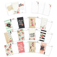 Carpe Diem - Simple Stories - Bloom Double-Sided Personal Planner Inserts - Monthly Undated
