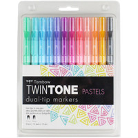Tombow - Twintone Marker Set of 12 - Pastels
