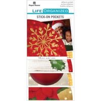 Paper House Life Organized Vellum Planner Pockets - Set of 12 - Christmas