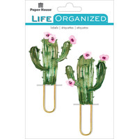 Paper House Life Organized Puffy Clips - Set of 2 - Cacti