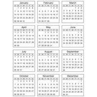 """SRM Press - SRM Standard Mini Calendar 2018 Stickers 6.75"""" x 9"""""""