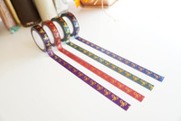 Simply Gilded - Washi Tape -Nightshade Bow Collection - Skinny Size 10mm - Set of 4