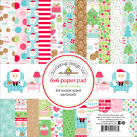 "Doodlebug Double-Sided Paper Pad 6"" x 6"" - Milk & Cookies"