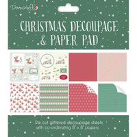 "Dovecraft Decoupage & Paper Pad 8"" x 8"" - Christmas Green"