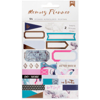 American Crafts Memory Planner Label Stickers - Marble Crush