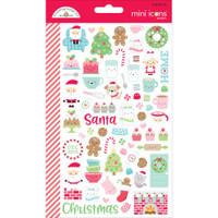 Doodlebug Mini Cardstock Stickers - Milk & Cookies Mini Icons