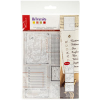 "Artemio Clear Stamps 5.9"" x 8.7""- Old Paper"