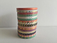 Washi Tape Set of 16 - Thin Skinny Foil Washi - 3mm x 5 metres each