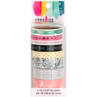 Crate Paper - Creative Devotion Washi Tape 5yd Rolls - Set of 8 #2