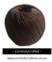 Waxed Hemp Cord - 100 Metre (110 Yards) Roll - Brown #WHC3