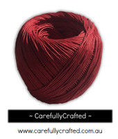Waxed Hemp Cord - 100 Metre (110 Yards) Roll - Red #WHC5