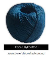 Waxed Hemp Cord - 100 Metre (110 Yards) Roll - Blue #WHC7