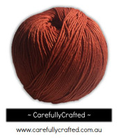 Waxed Hemp Cord - 100 Metre (110 Yards) Roll - Orange #WHC8