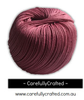 Waxed Hemp Cord - 100 Metre (110 Yards) Roll - Pink  #WHC12