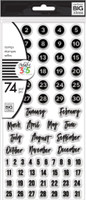 Create 365 - The Happy Planner - Me and My Big Ideas - Clear Stamps - Dates