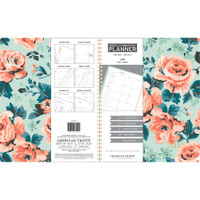 "American Crafts - 2018 Weekly/Monthly Planner 8.5"" x 11"" - Mint Floral"