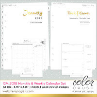 Color Crush - Websters Pages - 2018 A5 Planner 12-Month Calendar