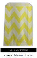 12 Favour Paper Bags - Chevron - Yellow  #FB3