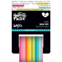 Illustrated Faith Basics Highlight-It Washi Tape - Set of 12 - Skinny
