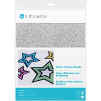 "Silhouette 8.5"" x 11"" Glitter Sticker Paper - 8 Sheets"