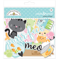 Doodlebug Odds & Ends Die-Cuts - Kitten Smitten - Set of 88