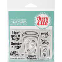 "Avery Elle Clear Stamp Set 4"" X 3"" - Cool Beans"