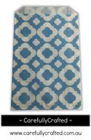 12 Favour Paper Bags - Mod Print - Blue  #FB14