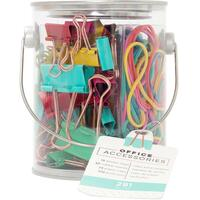 American Crafts - Office Bucket Accessory - Set of 291 - Bright Colors
