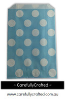 12 Favour Paper Bags - Polka Dot - Light Blue #FB17