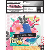 American Crafts - Vicki Boutin Ephemera Cardstock Die-Cuts - Set of 50 - All The Good Things Icons