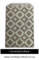 12 Favour Paper Bags - Mod Print - Light Grey  #FB21