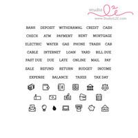 Studio l2e - Planner Stamps - Financial Plans