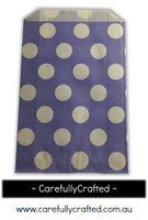 12 Favour Paper Bags - Polka Dot - Purple  #FB26