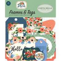 Carta Bella - Flora No. 2 Ephemera Cardstock Die-Cuts - Frames & Tags