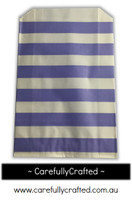 12 Favour Paper Bags - Horizotal Stripe - Purple  #FB28