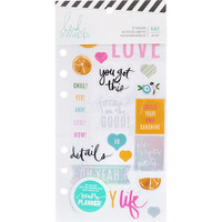 Heidi Swapp - Memory Planner Clear Stickers - Fresh Start, Playful
