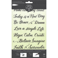 American Crafts - Kelly Creates - Acrylic Traceable Stamps - Quotes 3